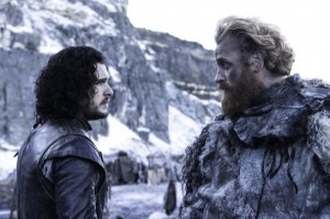 Jon Snow and Tormund Giantsbane, fools together