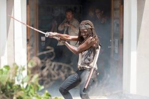 Danai Gurira as Michonne - The Walking Dead _ Season 6, Episode 3 - Photo Credit: Gene Page/AMC
