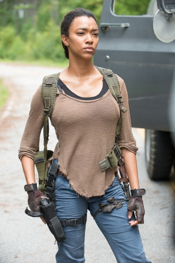 Sonequa Martin-Green as Sasha - The Walking Dead _ Season 6, Episode 9 - Photo Credit: Gene Page/AMC