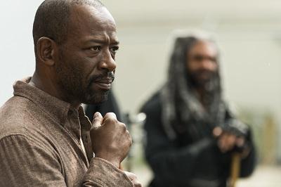 Lennie James as Morgan Jones, Khary Payton as Ezekiel- The Walking Dead _ Season 7, Episode 2 - Photo Credit: Gene Page/AMC