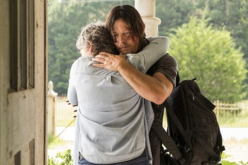 Melissa McBride as Carol Peletier, Norman Reedus as Daryl Dixon - The Walking Dead _ Season 7, Episode 10 - Photo Credit: Gene Page/AMC