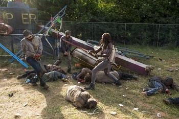 Danai Gurira as Michonne, Walkers- The Walking Dead _ Season 7, Episode 12 - Photo Credit: Gene Page/AMC