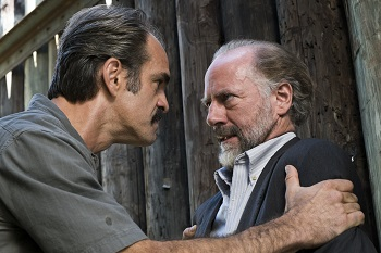 Steven Ogg as Simon, Xander Berkeley as Gregory - The Walking Dead _ Season 7, Episode 14 - Photo Credit: Gene Page/AMC