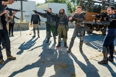 Khary Payton as Ezekiel, Copper Andrews as Jerry, Daniel Newman as Daniel, Carlos Navarro as Alvaro - The Walking Dead _ Season 7, Episode 13 - Photo Credit: Gene Page/AMC