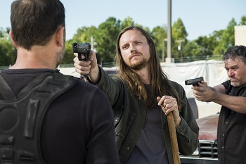 Joshua Mikel as Jared, Karl Makinen as Richard - The Walking Dead _ Season 7, Episode 14 - Photo Credit: Gene Page/AMC