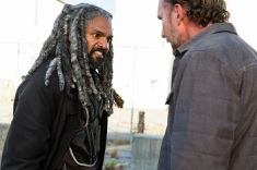 Khary Payton as Ezekiel, Jayson Warner Smith as Gavin - The Walking Dead _ Season 7, Episode 13 - Photo Credit: Gene Page/AMC