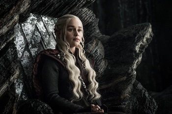 Dany on her throne